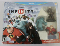 WII U DISNEY INFINITY STARTER PACK GAME MR INCREDIBLE SULLY & JACK SPARROW