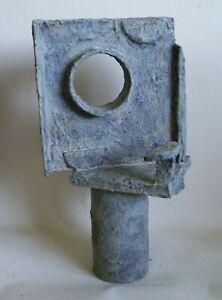 Retro abstract sculpture brutalist modernist influenced Bill Low outsider art