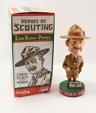 Boy Scout BSA Lord Baden Powell Chief Heroes of Scouting Bobble Head with Box