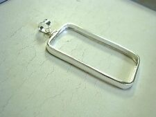 Screw top Sterling Silver Bar Frame/Bezel Pendant for One Oz Credit Suisse