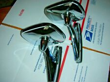 NOS: VINTAGE CLASSIC RECTANGLE DUAL TWIN SPORT HOT ROD SIDE MIRRORS