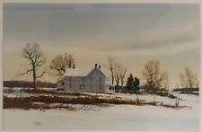 VINTAGE AMERICAN IMPRESSIONIST BROWN COUNTY INDIANA JERRY SMITH WINTER PAINTING