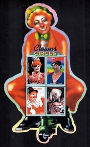 MODERN GEMS - Sierra Leone - Circus Clowns - Sheet of 4 - MNH