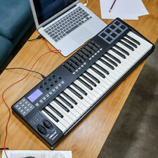 49-Key USB MIDI Keyboard Controller 8 RGB Colorful Backlit Trigger Pads & Cable
