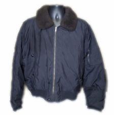 Polo Ralph Lauren black down filled shearling aviator jacket Sz XL