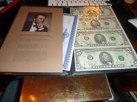 Uncut Sheet of 4 $1 & $5 Notes 2003 A & 1995 - Atlanta