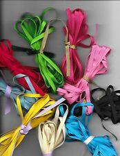 50 yds 1/4 inch grosgrain ribbon 10 bundles of 5 yards each 10 different colors
