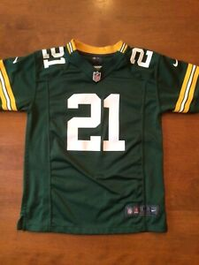 Green Bay Packers Charles Woodson #21 Nike Printed Jersey Boys SZ. Medium