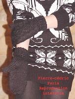Moufles gants doublé polaire Taille unique homme femme  Noir !