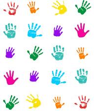 Colorful Handprints Waterslide Nail Decals/Nail art