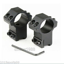 """a Pair Rings 1"""" Aluminum Rifle Scope Mount 3/8 in. Dovetail Rail High Profile"""