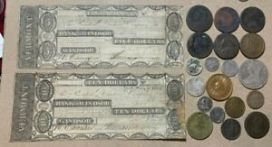 1837 1838 Type Lot Culls Holed Bust Obsolete Bank Feuchtwanger Counterstamped
