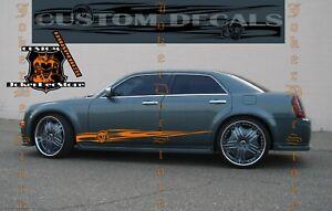 Pair of Sport Side Stripes Decal Sticker Vinyl For Chrysler 300 300S Fire Style