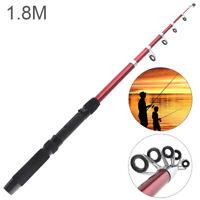 1.8m Glassfiber Telescopic Fishing Rod Sea Pole Travel Sea Rock Rods