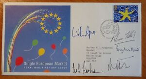 FDC MP signed Tebbit, Parkinson,Heseltine, Hurd, Hague, Single European Market