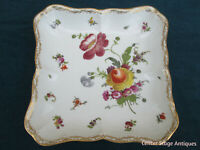 COL MW:  MEISSEN PORCELAIN FLORAL DECORATED BOWL PLATE DISH