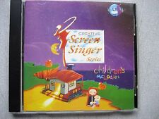 Creative Screen Singer Series, Children's Melodies CD-Rom, Windows, w/warranty