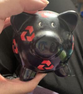 "Nat West National Westminster Bank Pig Piggy - Pottery Money Box & Stopper 4"""