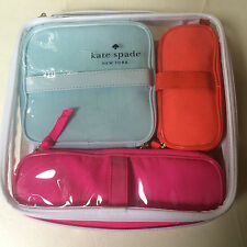 KATE SPADE NEW YORK COSMETIC BAG COLLECTION SET OF 4 - TRAVEL TOILETRY BAG POUCH