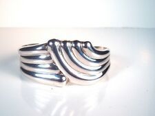 Vintage Signed LOS BALLESTEROS Mexican Taxco Sterling Cuff Bracelet