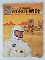 1970 Harris Pioneer World-Wide Postage Stamp Album OVER 750 Stamps! Hitler Space