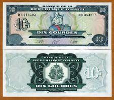 Haiti, 10 Gourdes, 1999, P-256, UNC > Catherine Flon sewing the first flag