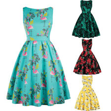 Vintage Retro Swing 50's Housewife Rockabilly Pinup Party Dress Plus Size M-3XL
