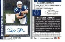 2009 Topps Finest Donald Brown Rookie Autographed Patch #83  Auto 104/109