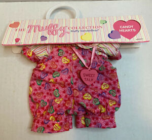 MUFFY VANDERBEAR Outfit CANDY HEART Romper Outfit Necklace Clothes Headband 2000