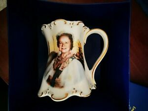 St George Fine Bone China Queen Mother 80th Birthday Commemorative Mug  , Used