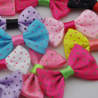 20//40//200pcs Upick Satin Ribbon Bows Print Dot DIY Sewing Appliques Crafts A096