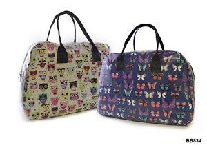 Stylish Ladies / Girls Laminated Polycotton Weekend Travel Bag Holdall