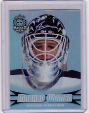 MANON RHEAUME 17/18 Leaf Masked Women Metal Insert Card #20 Silver Metal Rainbow