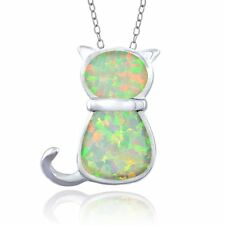 Echte Edelstein-halsketten aus Sterlingsilber mit Opal