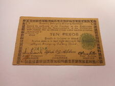 Philippines Emergency Currency Negros Occidental WWII Ten Pesos Nice - # 134186