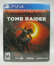 Shadow of the Tomb Raider Croft SteelBook Edition Ps4 w/ Art Cards Season Pass