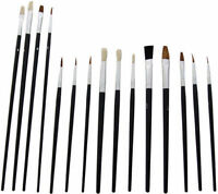 Artist Brushes 15 Paint Brush Set Assorted Sizes Acrylic Oil Brushes UK SALE
