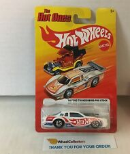 '86 Ford Thunderbird Pro Stock * WHITE * Hot Wheels Hot Ones * HE13