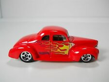 Hotwheels Custom 1940 Ford Coupe Hot Rod Red w/ Flames 1/64 Scale JC57