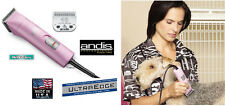 ANDIS UltraEdge HeavyDuty Clipper&10 Blade AG A5 PET DOG CAT HORSE Grooming*PINK