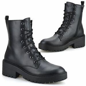 Womens Skechers Mid Block Heel Memory Foam Zip Up Ankle Biker Boots Shoes Size