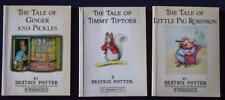 3x Paperbacks PETER RABBIT books TIMMY TIPTOES/PIG ROBINSON/GINGER PICKLES*Warne