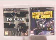 BORDERLANDS THE PRE-SEQUEL + THE BUREAU !!!  2  Jeux Cultes : PS3 NEUFS Blister