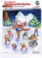 Violine Noten : Die schönsten Weihnachtslieder - mit CD  mit 2. Stimme  - leicht