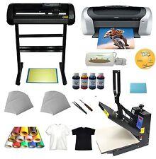 "Heat press 34"" Cutter plotter Printer Ink Paper T-shirt Transfer Start-up Kit"