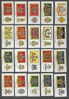 1924 John Player Drum Banners & Cap Badges Tobacco Cards Complete Set of 50