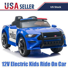 12V Kids Ride On Car Electric Police Car with Remote Control/Siren/Microphone