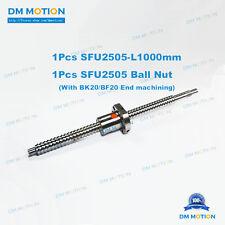 25mm Rolled Ballscrew SFU2505 1000mm RM2505 Ballnut end machining for DIY Part