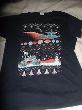 Space winter land  blue T shirt sci fi fantasy  Ring Spun