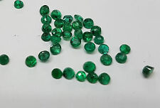 Natural Loose Brazil Dark Green Emerald Transparent 5mm approx. 4pc 2cts Lot